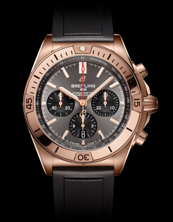 Breitling Chronomat Collection_chronomat-b01-42-in-18-k-red-gold-with-an-anthracite-dial-and-black-contrasting-chronograph-counters_ref-rb0134101b1s1