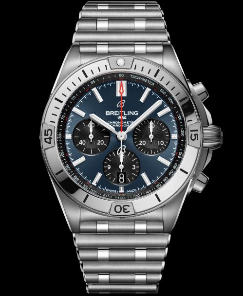 Breitling Chronomat Collection_chronomat-b01-42-with-a-blue-dial-and-black-contrasting-chronograph-counters_ref-ab0134101c1a1