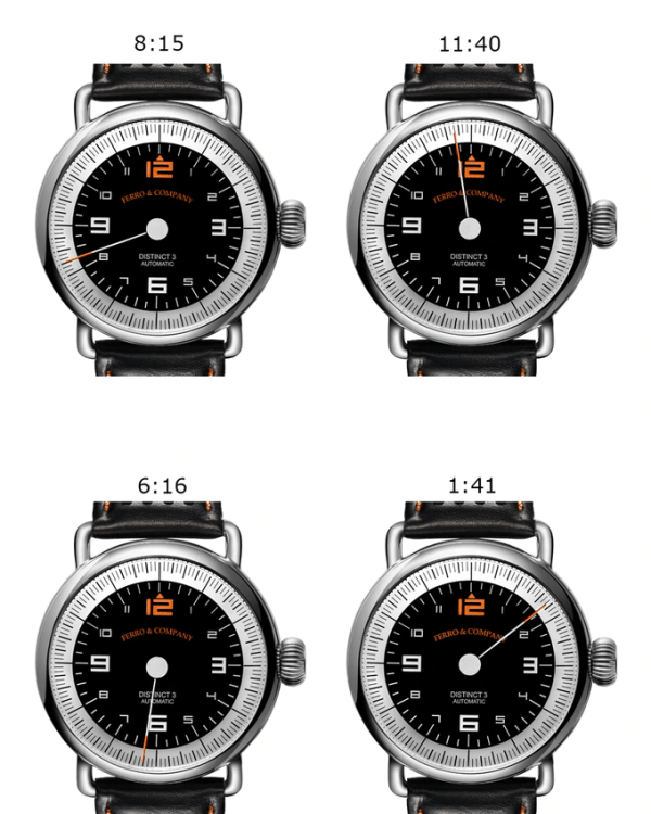 Ferro& Co. Distinct 3 single hand watch