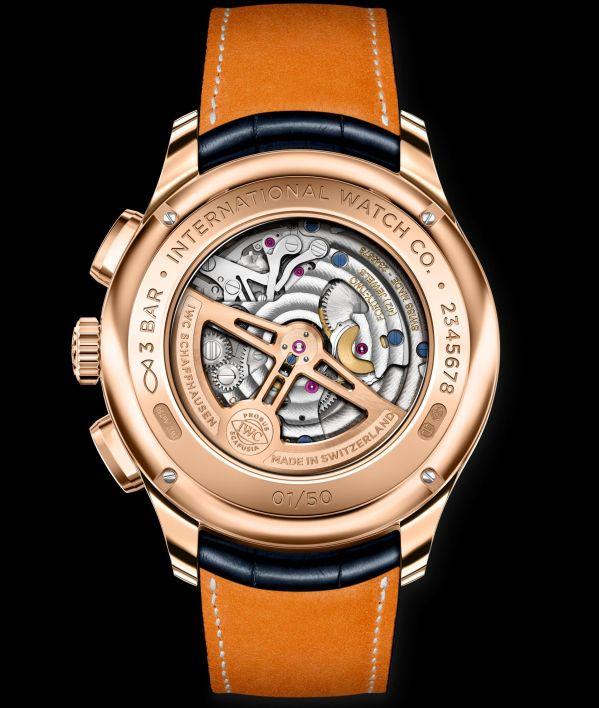 IWC Schaffhausen Portugieser Tourbillon Rétrograde Chronograph, Ref. IW394005 red gold boutique edition caseback