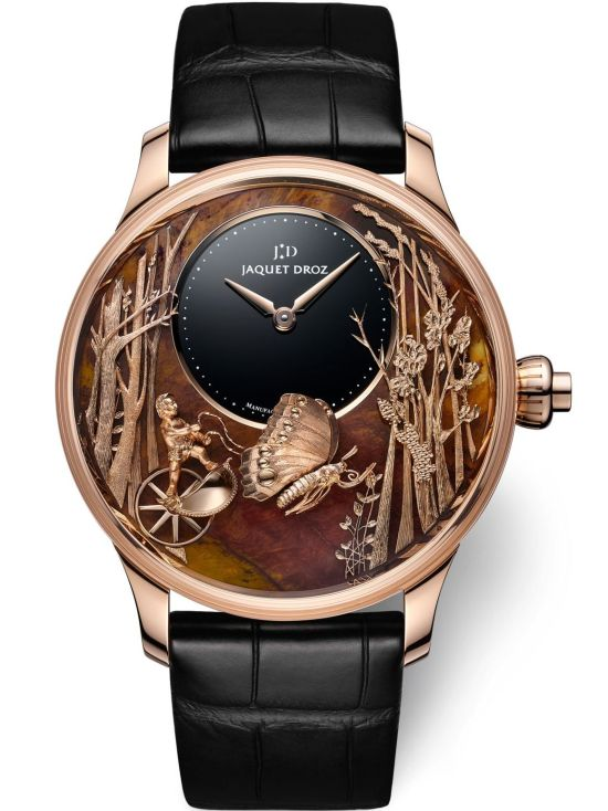 Jaquet Droz Loving Butterfly Automaton Chinchilla Red Limited Edition