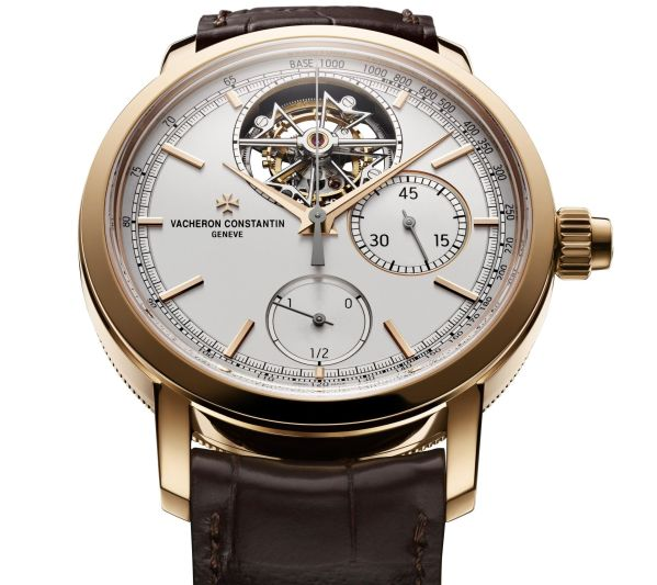 Vacheron Constantin Traditionnelle Tourbillon Chronograph 18K 5N pink gold Silvered opaline dial