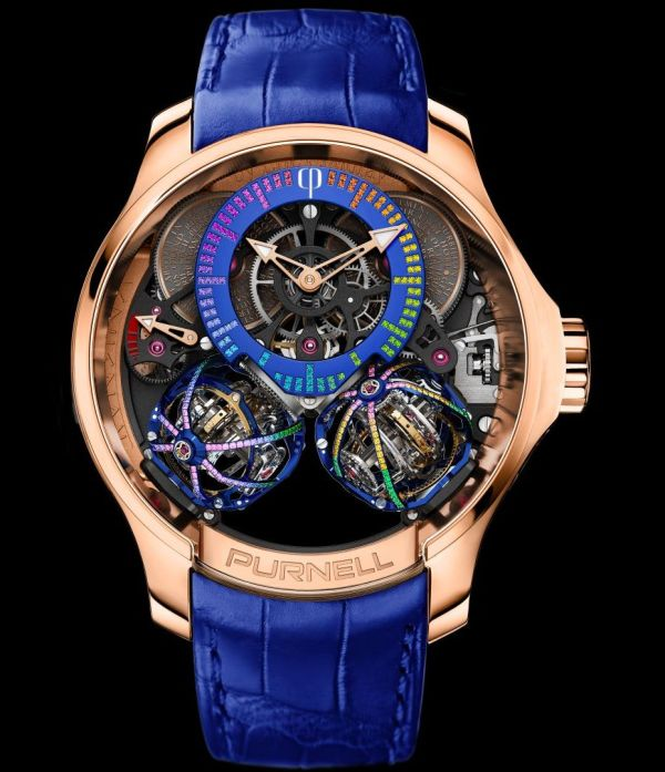 Escape IIS Treasure Rainbow: Case in 18k Rose gold; Cages set with 304 brilliant-cut sapphires, rubies and emeralds