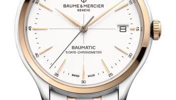 Baume & Mercier Clifton Baumatic date COSC steel case steel bracelet