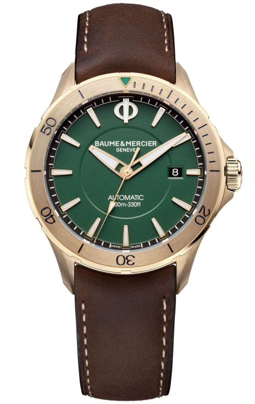 Baume & Mercier Clifton Club Bronze, Reference M0A10503, Satin-finished bronze case, Green dial