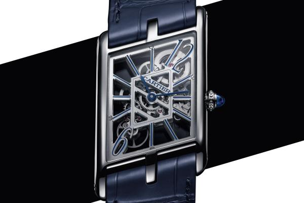 Cartier Privé Collection, the New Tank Asymétrique Skeleton Watch