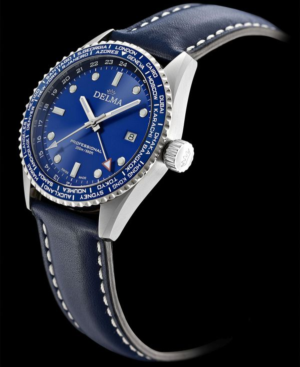 Delma Cayman Worldtimer quartz watch