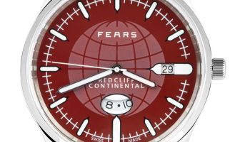 Fears Redcliff Continental - Passport Red dial on a Fears Blue goat's skin strap