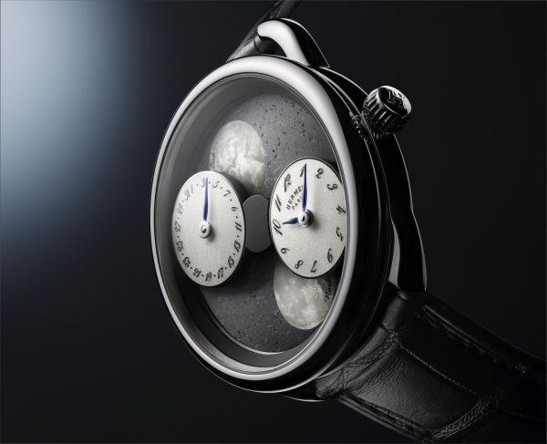 ARCEAU L'heure de la lune (with white gold case and Black Sahara meteorite dial)
