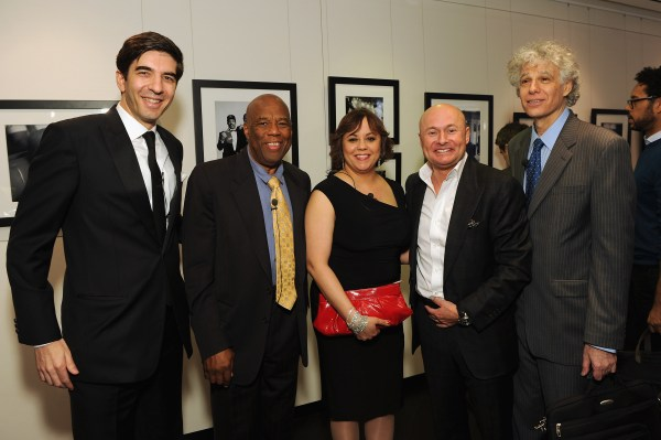 NEW YORK, NY - APRIL 25:  IWC North American President Gianfranco D'Attis, Howard Bingham, Miya Ali, IWC CEO Georges Kern, and Thomas Hauser attend the IWC Flagship Boutique New York City Grand Opening at IWC Boutique on April 25, 2012 in New York City.   (PHOTOPRESS/IWC/Larry Busacca)