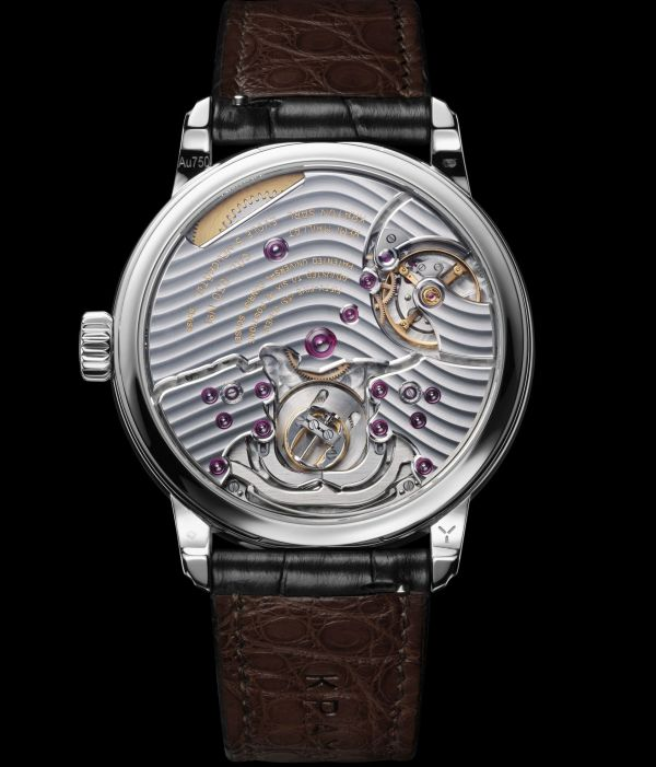 Krayon Anywhere watch by Rémi Maillat rose gold model white gold model caseback view