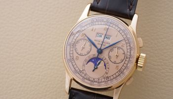 Patek Philippe Reference 1518 from 1948 in Pink Gold with Pink Dial: Sold for CHF 3.4 million / US$ 3.6 million - World record for the variant of this reference in gold (Image courtesy: Phillips)