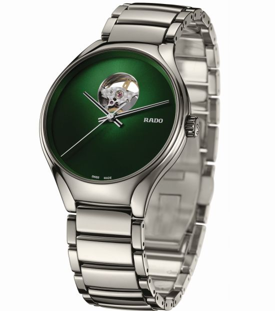Rado True Secret Automatic (With Plasma Ceramic Case and Green Gradient Cut-out Dial)