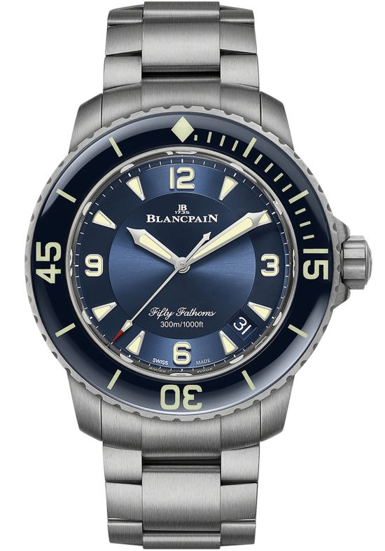 Blancpain Fifty Fathoms New Automatique and Grande Date models with Titanium Bracelets (Ref. 5015-12B30-98B, Ref. 5015-12B40-98B & Ref. 5050-12B30-98B)