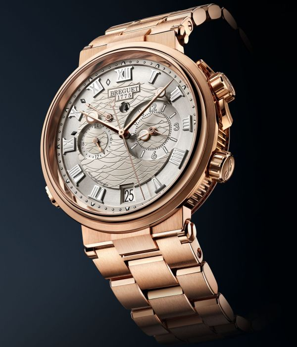 Breguet Marine Alarme Musicale 5547 rose gold version with bracelet, Reference 5547BR/12/RZ0