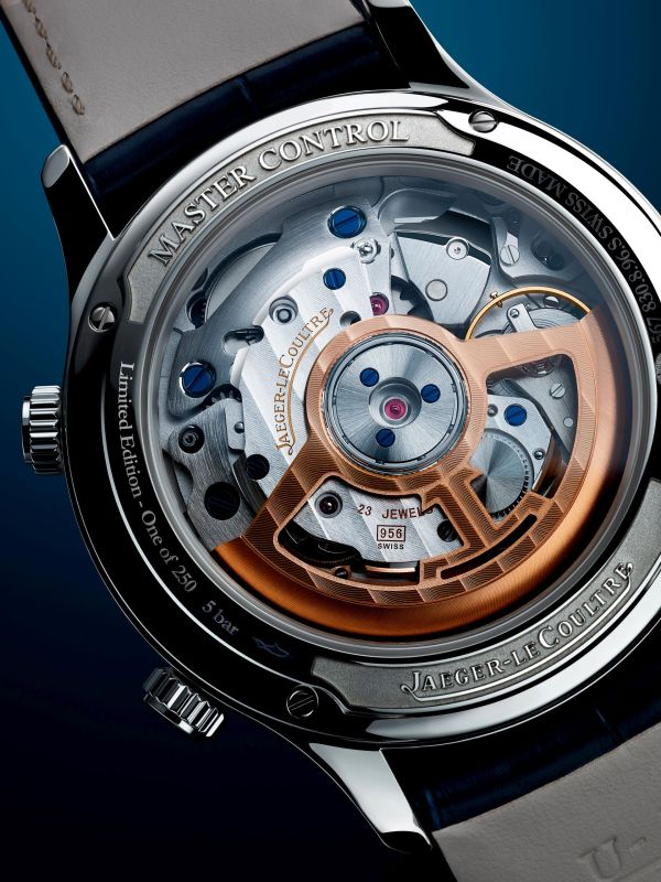 Jaeger-LeCoultre Master Control Memovox Timer caseback view