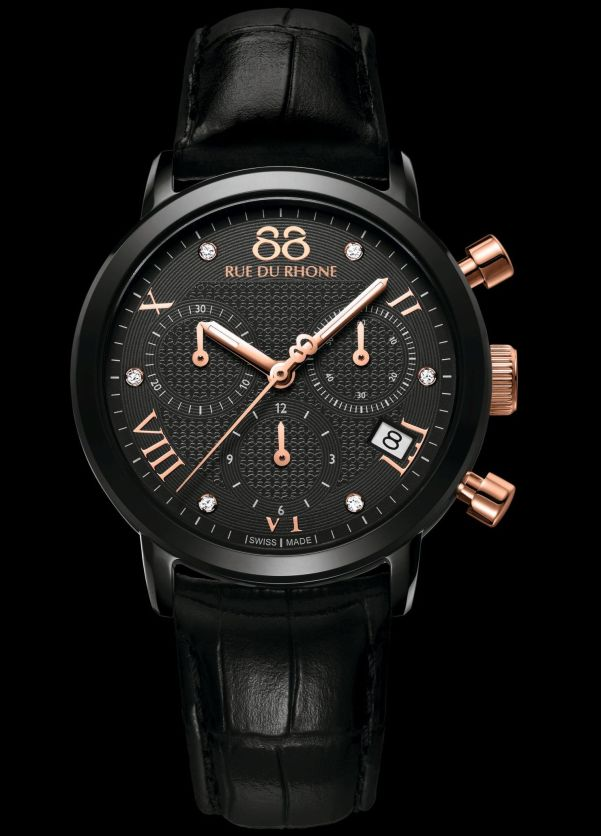 88 RUE DU RHONE Model: 87WA130005 – Double 8 Origin – Black Rose Chrono – 35mm Quartz Chronograph