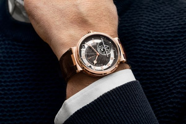 Breguet Marine Tourbillon Équation Marchante 5887 (New Model in Rose Gold Case with Slate-Gray Dial in Gold)