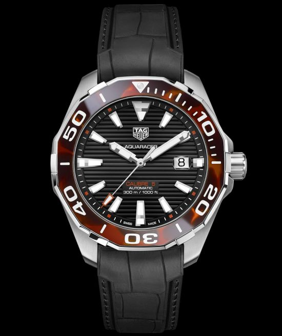 Tag Heuer Aquaracer 43 mm Tortoise Shell Effect Special Edition brown version