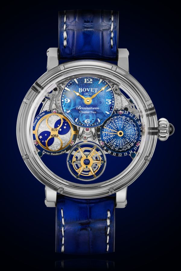 BOVET 1822 Récital 26 Brainstorm® Chapter Two: Double-face flying tourbillon, world time with indexable second-time zone, moon phase, and five days' power reserve