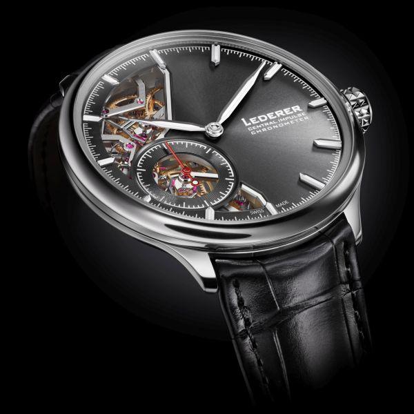 Bernhard Lederer Central Impulse Chronometer white gold watch
