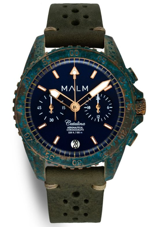 MALM Catalina Blue Bronze Wreck Chronograph