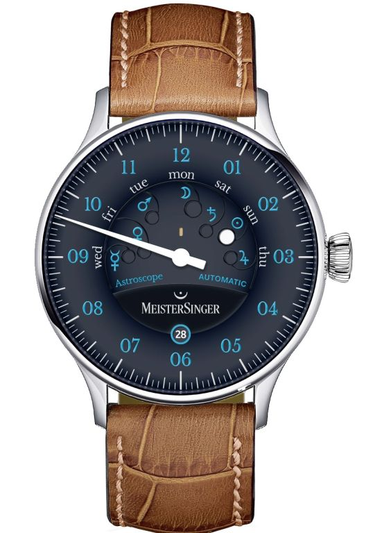 MeisterSinger Astroscope single-hand automatic watch with day and date