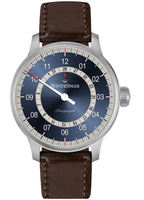 MeisterSinger Perigraph New Models 2020 blue dial with grey date ring