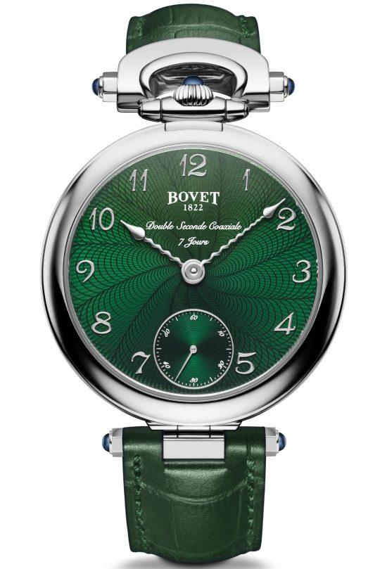 BOVET 1822 Monsieur Bovet with Green Guilloche Dial