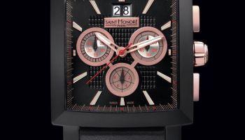 SAINT HONORE Orsay Black Racing Chronograph