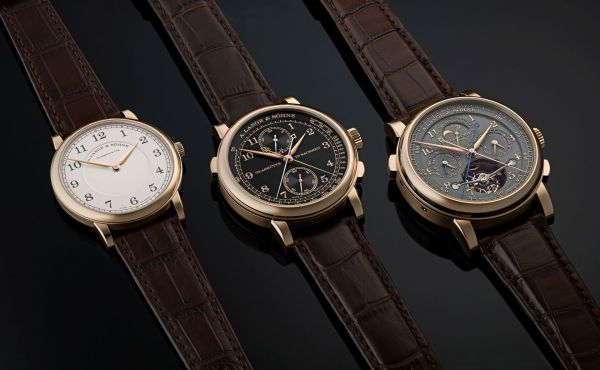 """A. Lange & Söhne """"Homage to F. A. Lange"""" Special Edition Honey Gold Series: the 1815 RATTRAPANTE HONEYGOLD, the 1815 THIN HONEYGOLD and the TOURBOGRAPH PERPETUAL HONEYGOLD"""