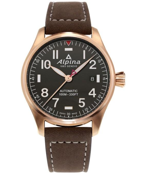 Alpina Startimer Pilot Automatic 40 mm AL-525G3S4 dark grey dial