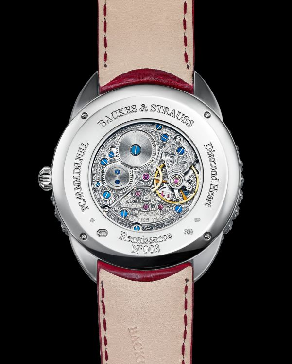 Backes & Strauss Queen of Hearts watch caseback view