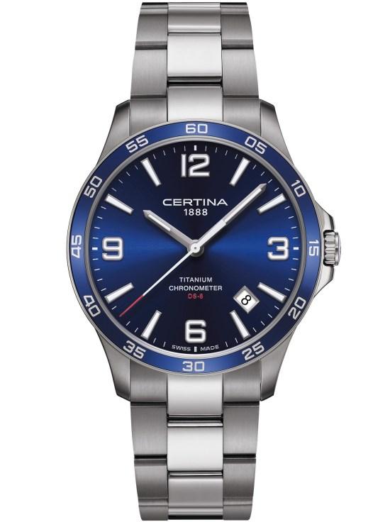 Certina DS-8 Dark blue dial, titanium case and bracelet