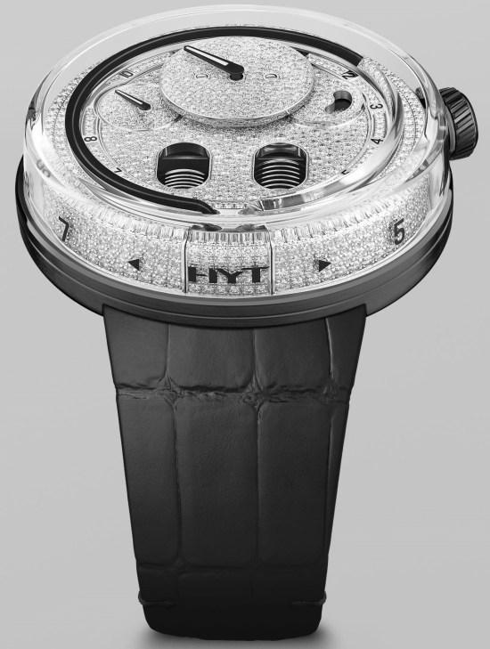 HYT H0 Diamonds Black Fluid (Ref. 048-AC-86-NF-CR)