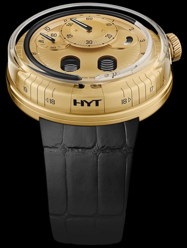 HYT H0 Gold Blue Fluid (Ref. 048-GD-94-BF-CR)