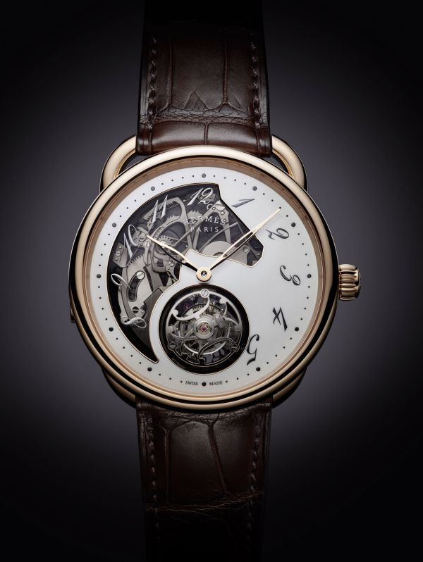 Hermès Arceau Lift Tourbillon Répétition Minutes rose gold