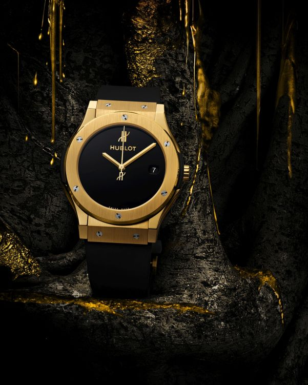Hublot Classic Fusion 40 Years Anniversary Limited Edition watch with Satin-finished and Polished 18K Yellow Gold case