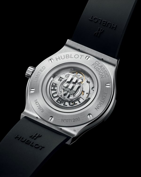 Hublot Classic Fusion 40 Years Anniversary Limited Edition watch with Satin-finished and Polished titanium case