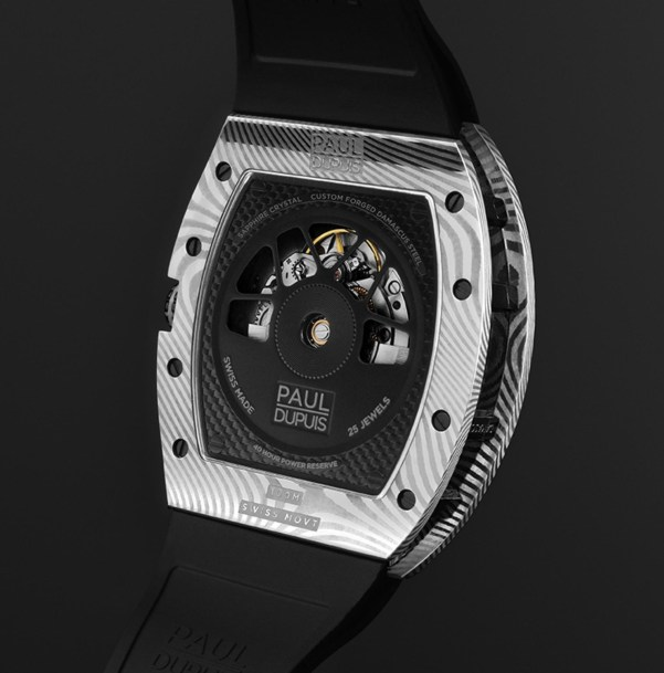 The Paul Dupuis DMS|001 watch with Silver Damascus Steel Case