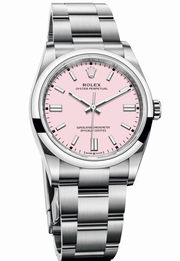 Rolex Oyster Perpetual 36 with Candy pink lacquer dial