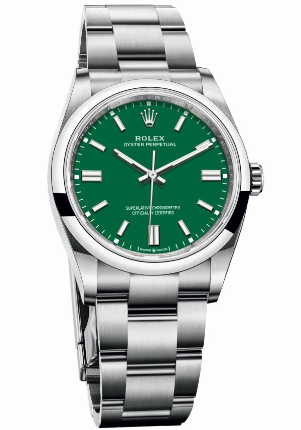 Rolex Oyster Perpetual 36 with Green lacquer dial