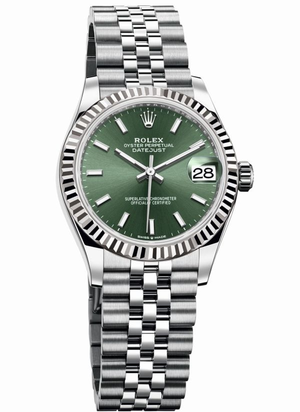 Rolex Oyster Perpetual Datejust 31 with Mint green dial