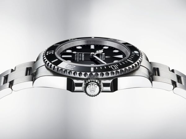 Oyster Perpetual Submariner in Oystersteel with a Black Cerachrom bezel and a black dial, 41mm, Reference 124060