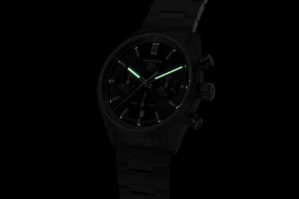 TAG Heuer Carrera New Chronograph Models lume shot