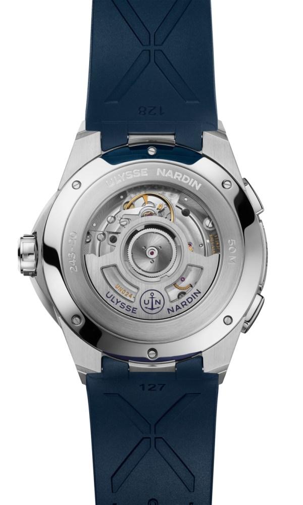 Ulysse Nardin 42 Mm Dual Time new watch model 2020 caseback view