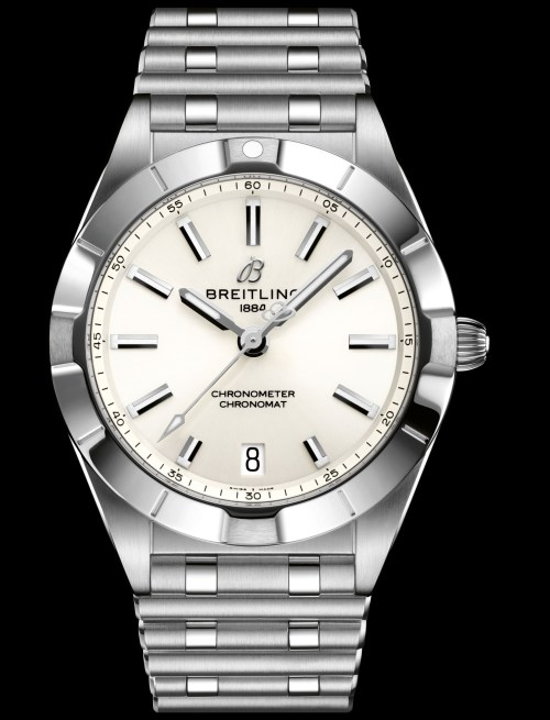 Breitling chronomat-32-in-stainless-steel-with-a-white-dial_ref.-a77310101a2a1