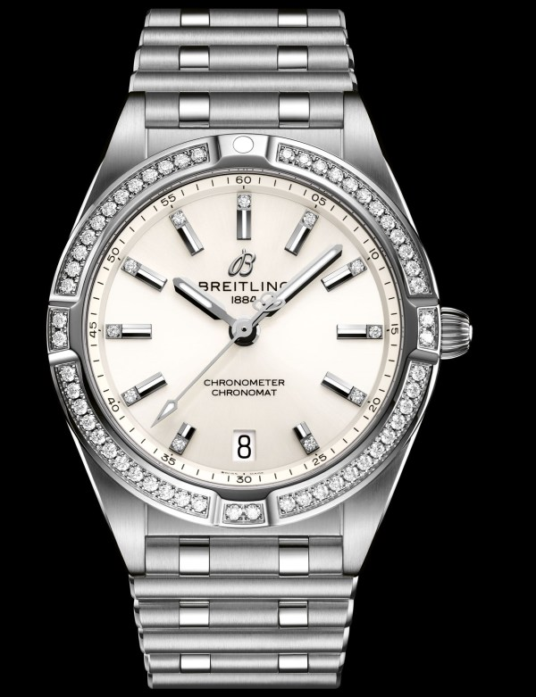Breitling chronomat-32-with-a-white-dial-and-diamond-hour-markers_ref.-a77310101a3a1