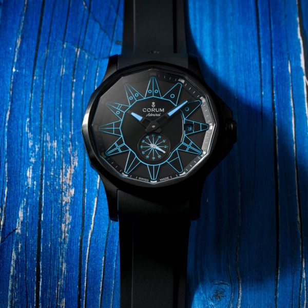 Corum Admiral 42 Automatic Full Black (New Color Versions) Blue