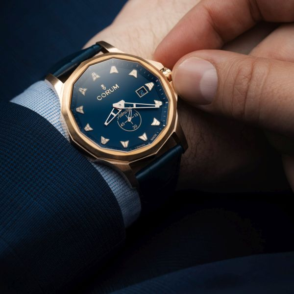 Corum Admiral 42 Bronze watch new model 2020 with blue dial